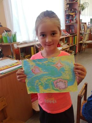 Техника «Эбру» и особенности ее применения в работе с дошкольниками