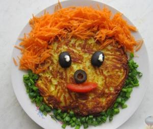 Картофельный драник «Веселый человечек»